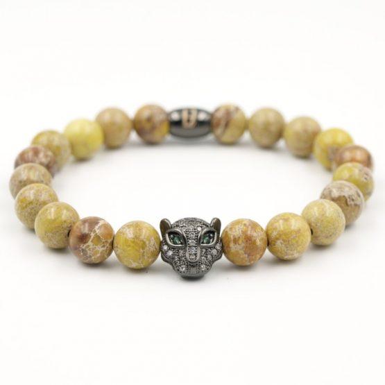 Katzenkopf Perlenarmband