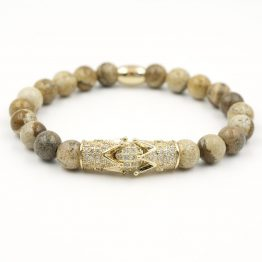 Königsarmband mit Goldakzenten