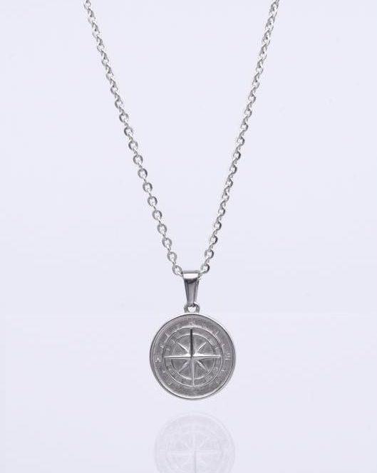 Kompass Anhänger Silber